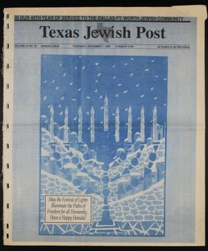 Primary view of object titled 'Texas Jewish Post (Fort Worth, Tex.), Vol. 49, No. 49, Ed. 1 Thursday, December 7, 1995'.