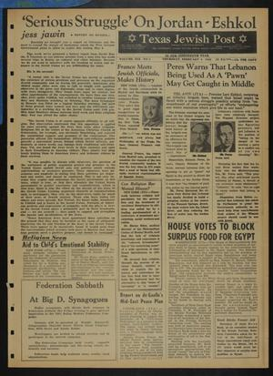 Primary view of object titled 'Texas Jewish Post (Fort Worth, Tex.), Vol. 19, No. 5, Ed. 1 Thursday, February 4, 1965'.