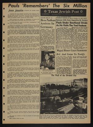 Primary view of object titled 'Texas Jewish Post (Fort Worth, Tex.), Vol. 19, No. 34, Ed. 1 Thursday, August 26, 1965'.