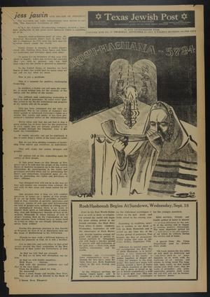 Primary view of object titled 'Texas Jewish Post (Fort Worth, Tex.), Vol. 17, No. 37, Ed. 1 Thursday, September 12, 1963'.