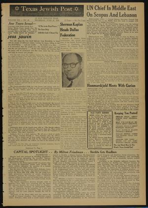 Primary view of object titled 'Texas Jewish Post (Fort Worth, Tex.), Vol. 12, No. 26, Ed. 1 Thursday, June 26, 1958'.
