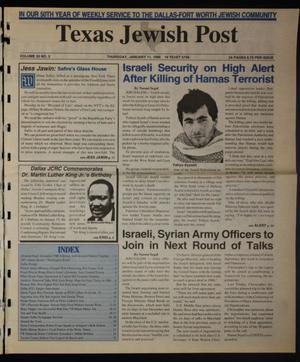 Primary view of object titled 'Texas Jewish Post (Fort Worth, Tex.), Vol. 50, No. 2, Ed. 1 Thursday, January 11, 1996'.