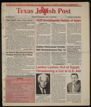 Primary view of object titled 'Texas Jewish Post (Fort Worth, Tex.), Vol. 49, No. 5, Ed. 1 Thursday, February 2, 1995'.