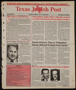 Primary view of object titled 'Texas Jewish Post (Fort Worth, Tex.), Vol. 49, No. 9, Ed. 1 Thursday, March 2, 1995'.