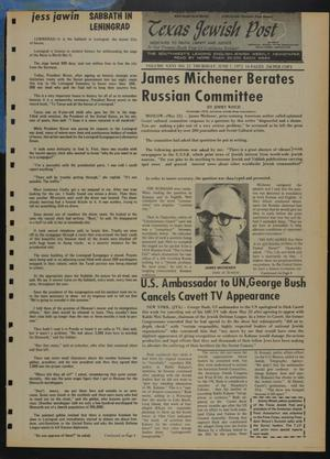 Primary view of object titled 'Texas Jewish Post (Fort Worth, Tex.), Vol. 26, No. 22, Ed. 1 Thursday, June 1, 1972'.