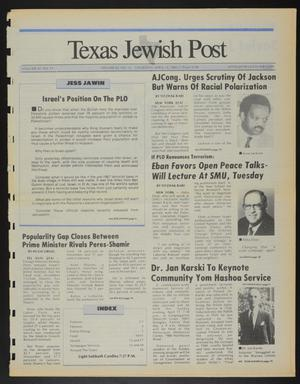 Primary view of object titled 'Texas Jewish Post (Fort Worth, Tex.), Vol. 42, No. 15, Ed. 1 Thursday, April 14, 1988'.