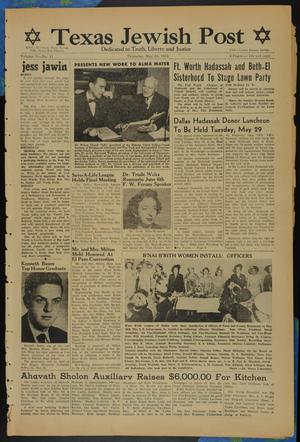 Primary view of object titled 'Texas Jewish Post (Fort Worth, Tex.), Vol. 5, No. 11, Ed. 1 Thursday, May 24, 1951'.