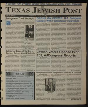 Primary view of object titled 'Texas Jewish Post (Fort Worth, Tex.), Vol. 50, No. 47, Ed. 1 Thursday, November 21, 1996'.