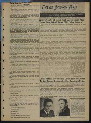 Primary view of object titled 'Texas Jewish Post (Fort Worth, Tex.), Vol. 23, No. 52, Ed. 1 Thursday, December 25, 1969'.