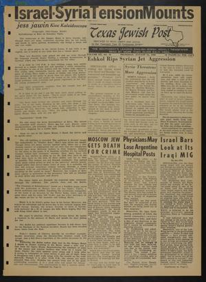 Primary view of object titled 'Texas Jewish Post (Fort Worth, Tex.), Vol. 20, No. 34, Ed. 1 Thursday, August 25, 1966'.