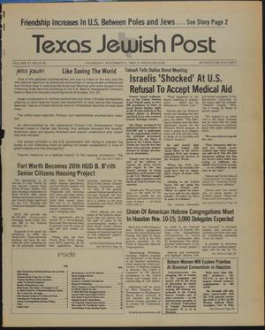 Primary view of object titled 'Texas Jewish Post (Fort Worth, Tex.), Vol. 37, No. 44, Ed. 1 Thursday, November 3, 1983'.