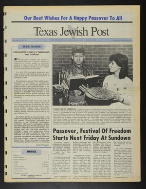 Primary view of object titled 'Texas Jewish Post (Fort Worth, Tex.), Vol. 42, No. 12, Ed. 1 Thursday, March 24, 1988'.