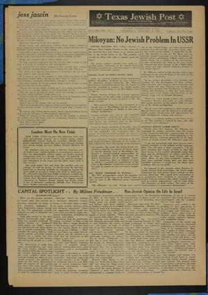 Primary view of object titled 'Texas Jewish Post (Fort Worth, Tex.), Vol. 13, No. 4, Ed. 1 Thursday, January 22, 1959'.