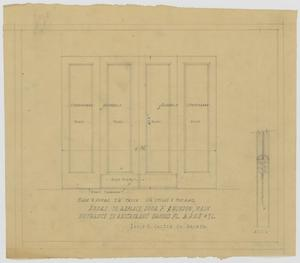 Primary view of object titled 'Club Building for B.P.O.E. Number 71, Restaurant, Dallas, Texas: Door Plans'.