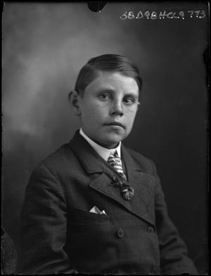 Primary view of object titled '[Portrait of Boy in Suit]'.