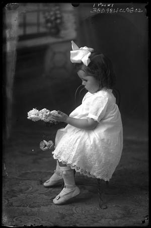 Primary view of object titled '[Portrait of Girl with Flowers]'.