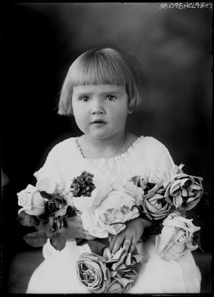 Primary view of object titled '[Portrait of Young Girl with Flowers]'.