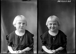 Primary view of object titled '[Portraits of Young Girl with Necklace]'.