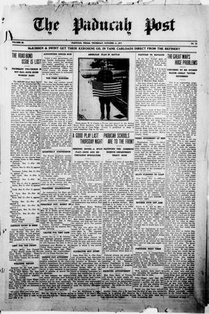 The Paducah Post (Paducah, Tex.), Vol. 11, No. 21, Ed. 1 Thursday, October 11, 1917