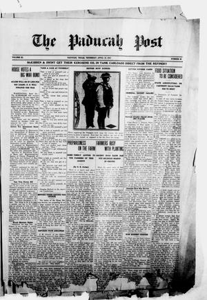 The Paducah Post (Paducah, Tex.), Vol. 11, No. 49, Ed. 1 Thursday, April 19, 1917