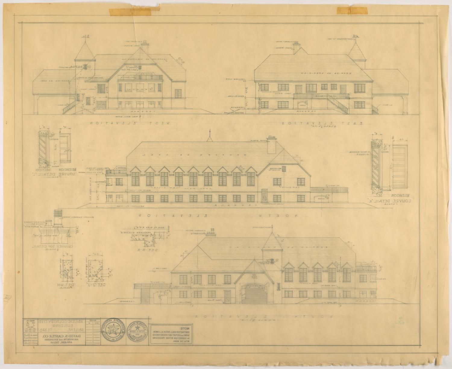 Abilene Country Club, Abilene, Texas: Elevations                                                                                                      [Sequence #]: 2 of 2