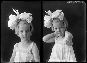 Primary view of object titled '[Portraits of Small Girl with Bow]'.