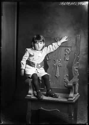 Primary view of object titled '[Portrait of Girl in Chair]'.