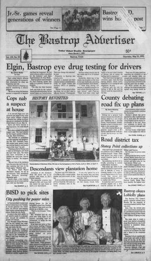 Primary view of object titled 'The Bastrop Advertiser (Bastrop, Tex.), Vol. 139, No. 23, Ed. 1 Thursday, May 21, 1992'.