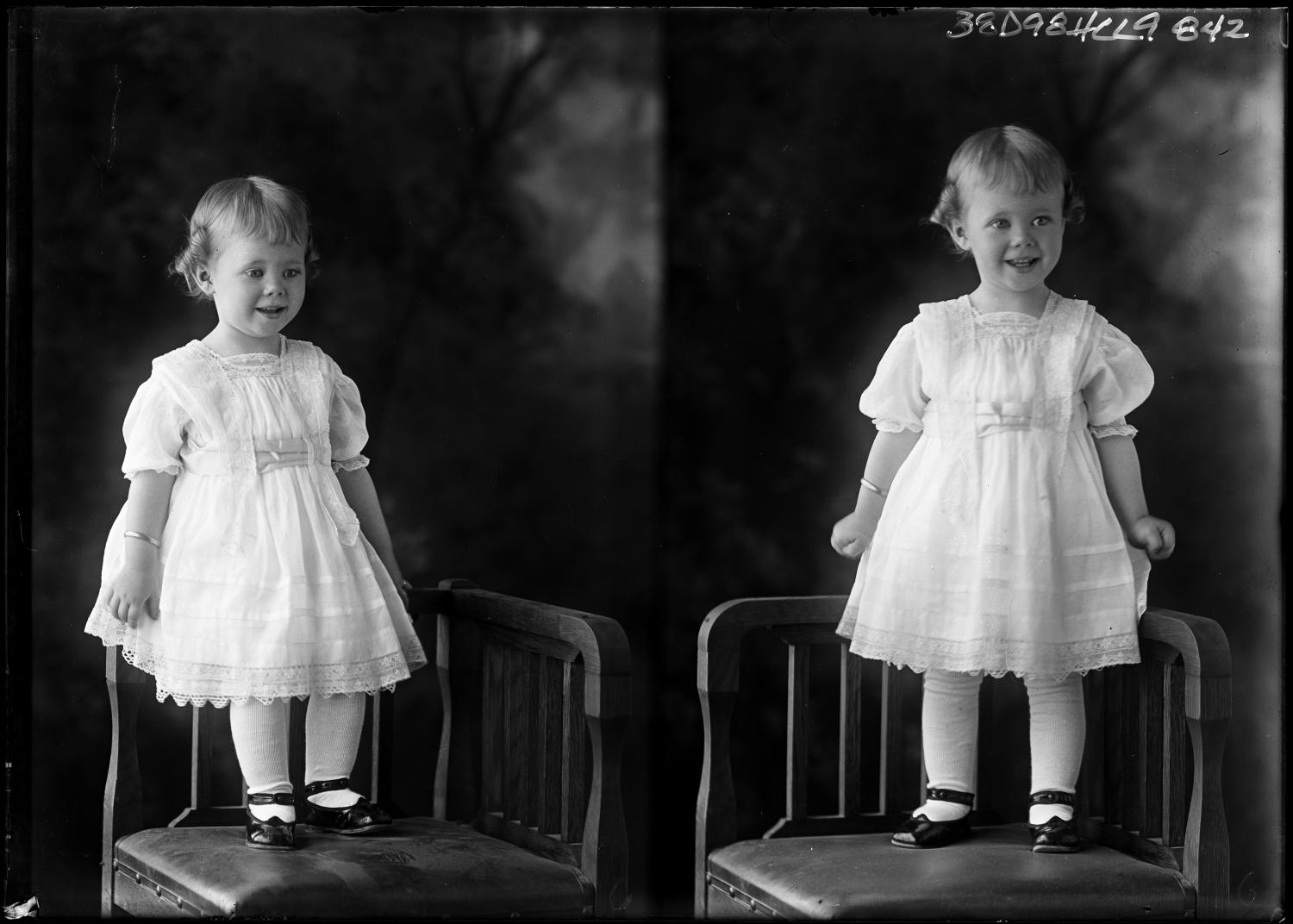 [Portraits of Small Girl in Chair]                                                                                                      [Sequence #]: 1 of 1