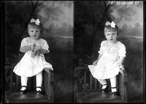 Primary view of object titled '[Portraits of Small Girl in Chair]'.