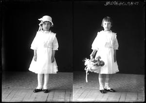 Primary view of object titled '[Portraits of Girl Standing]'.