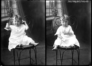 Primary view of object titled '[Portraits of Girl in Chair]'.