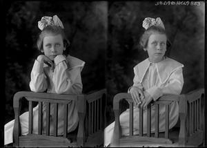 Primary view of object titled '[Portraits of Girl Sitting in Chair]'.