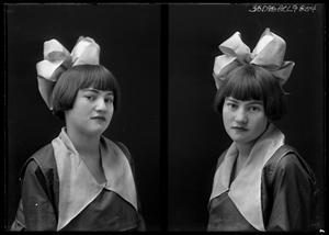 Primary view of object titled '[Portraits of Girl with Large Bow]'.