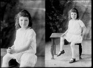 Primary view of object titled '[Portraits of Girl Sitting]'.