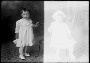 Primary view of object titled '[Portraits of Baby Girl with Chair]'.