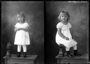 Primary view of object titled '[Portraits of Girl on Bench]'.