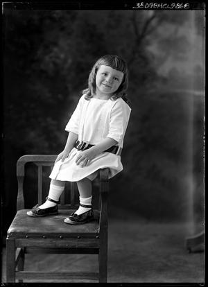Primary view of object titled '[Portrait of Girl Sitting on Chair]'.