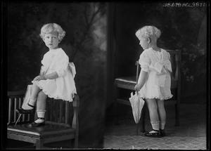 Primary view of object titled '[Portraits of Girl with Parasol]'.