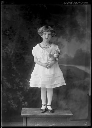 Primary view of object titled '[Portrait of Girl with Doll]'.