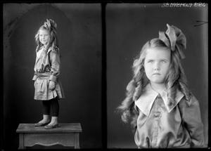 Primary view of object titled '[Portraits of Girl with Bow]'.