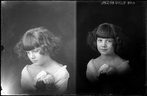 Primary view of object titled '[Portraits of Girl with Flowers]'.