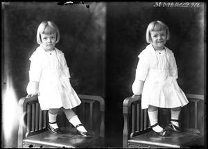 Primary view of object titled '[Portraits of Girl Sitting on Chair]'.