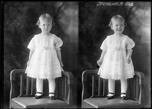 Primary view of object titled '[Portraits of Small Girl Standing in Chair]'.