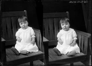 Primary view of object titled '[Portraits of Baby in Chair]'.