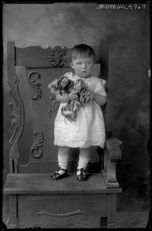 Primary view of object titled '[Portrait of Baby with Flowers]'.