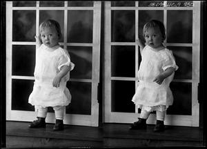 Primary view of object titled '[Portraits of Baby by Window]'.