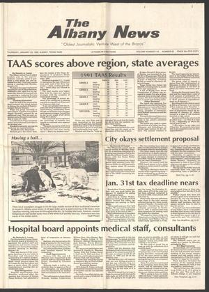 The Albany News (Albany, Tex.), Vol. 116, No. 33, Ed. 1 Thursday, January 23, 1992