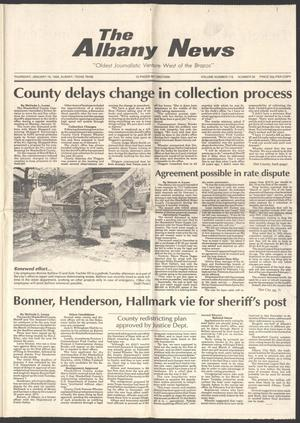 Primary view of object titled 'The Albany News (Albany, Tex.), Vol. 116, No. 32, Ed. 1 Thursday, January 16, 1992'.