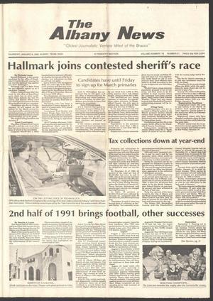 The Albany News (Albany, Tex.), Vol. 116, No. 31, Ed. 1 Thursday, January 9, 1992